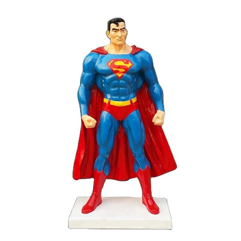 Strong movie action figure life size superman statue decoration