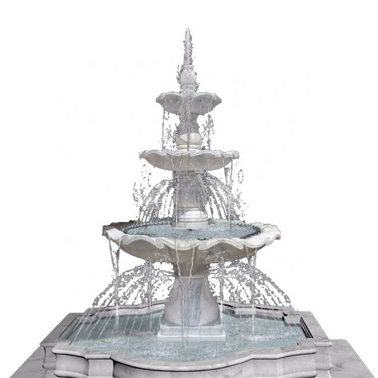 factory price large antique outdoor garden marble stone fountains