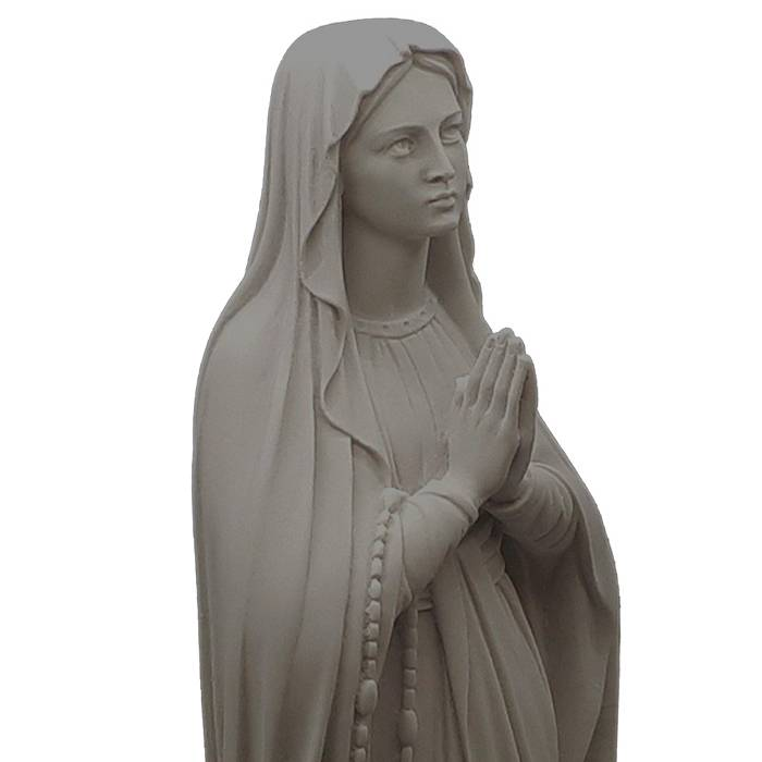 Sculpture Marble Hand Carved White Marble Virgin Mary Statues