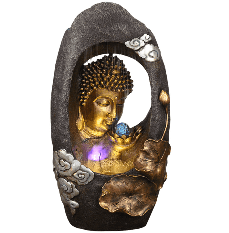 outdoor garden small indoor home fengshui waterfall wall mini buddha fountain Featured Image