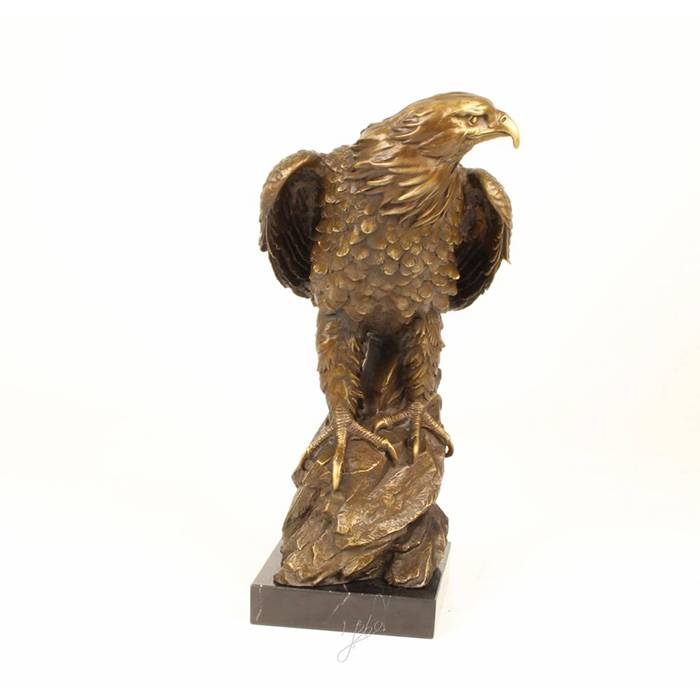 Customized life size brass  bird statue decorative outdoor bronze eagle sculpture