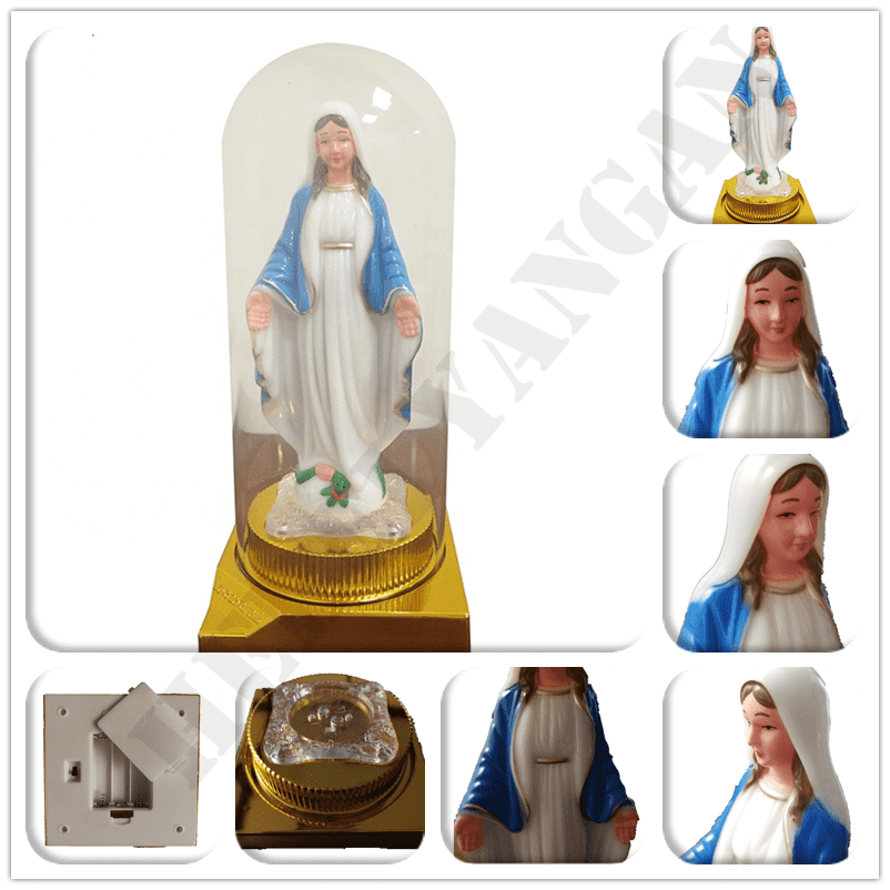 Factory outlet religious mary statue with LED light for Christmas