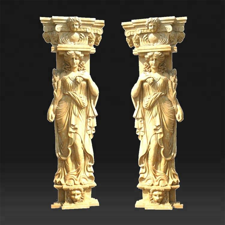 Professional Custom decoration stone roman pillar marble columns for sale