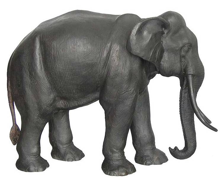 Exquisite Large Antique Animal Statue Bronze Elephant for Sale