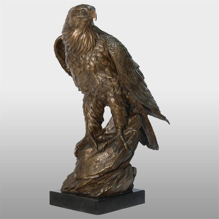 Garden decor antique bronze brass eagle statue