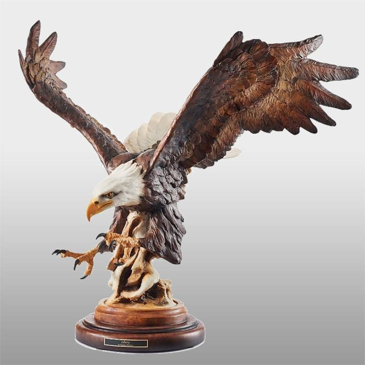 Garden decor antique bronze brass eagle statue Featured Image