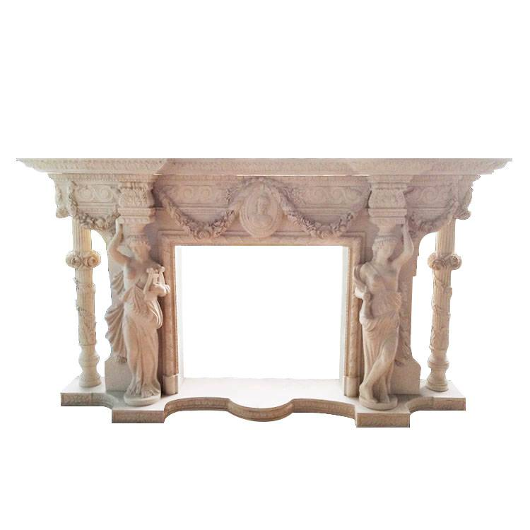 decorative surround cast stone mantels carrara marble fireplace