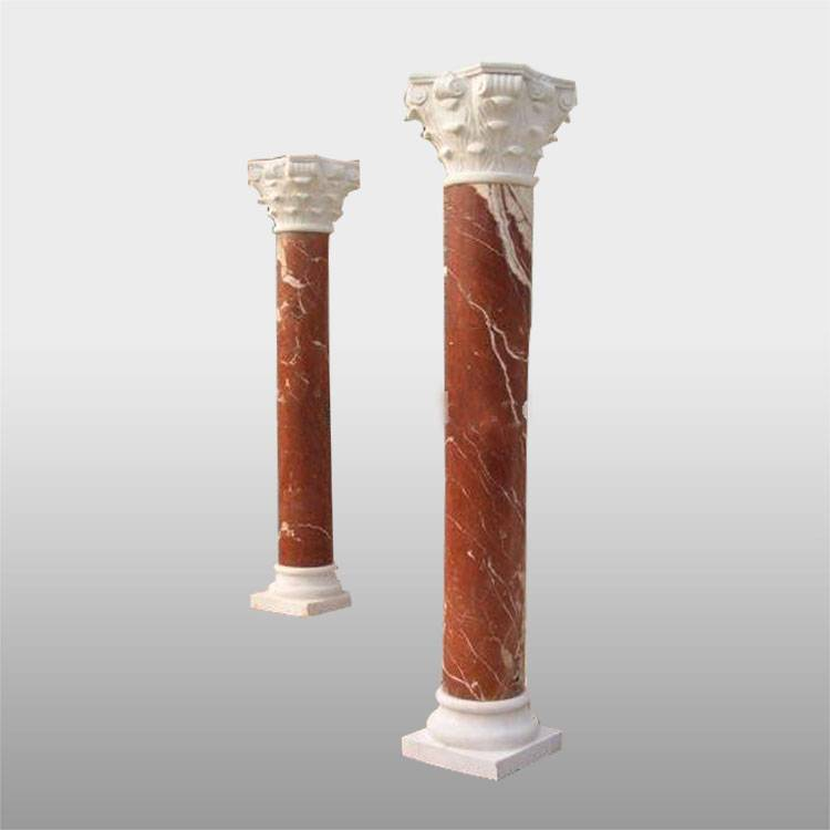 Hand carved home decor marble house pillars