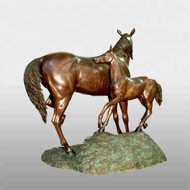 Metal crafts home decoration antique brass horse statue