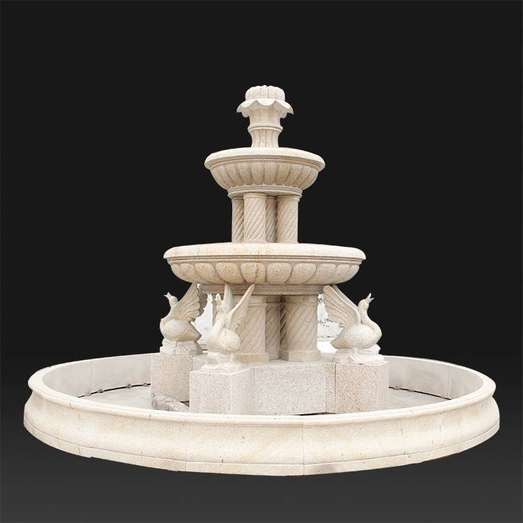 chinese hand carved decorative stone water fountain for interiors