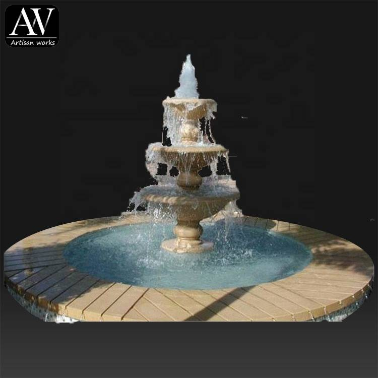 Decoration marble house custom water fountain indoor