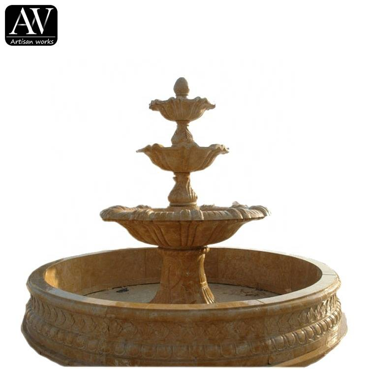 Hot selling decoration stone garden products water marble cherub fountain