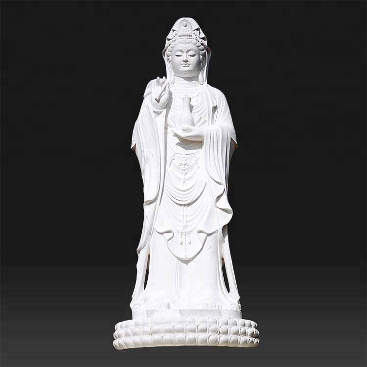 Outdoor garden female stone buddha statue for lady