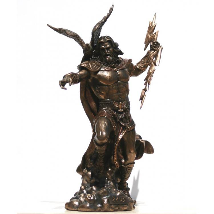 Metal casting figure statue life size Greek lod god bronze Zeus sculpture on sale