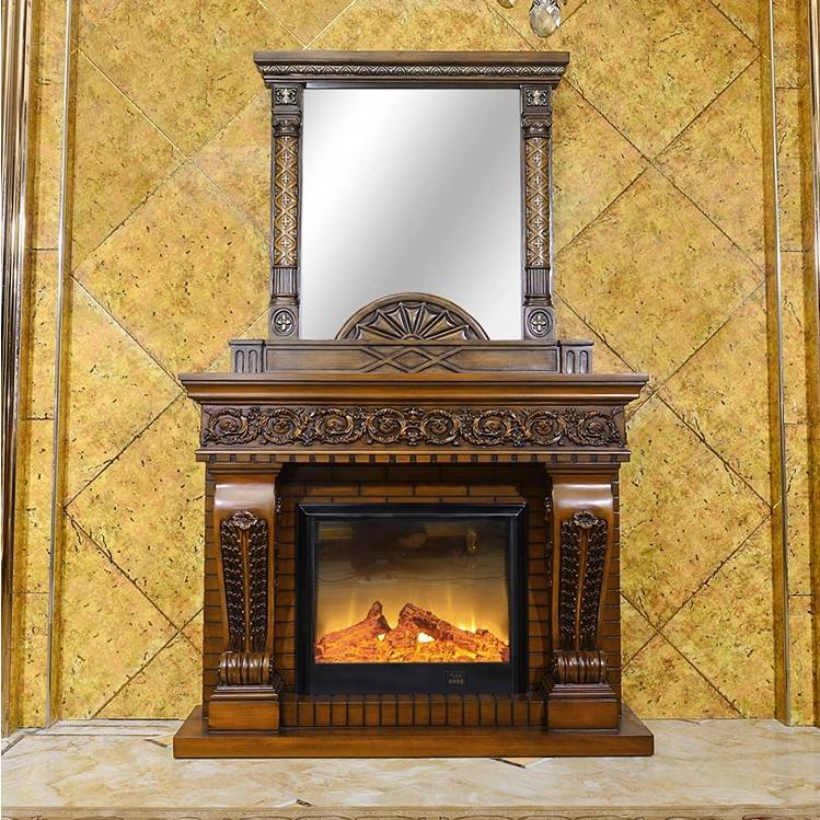Classical indoor modern carved front fireplace decoration