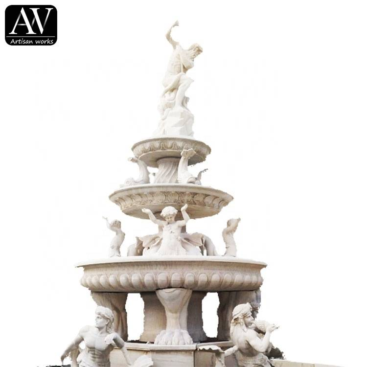 Factory customized marble large indoor water fountain sale