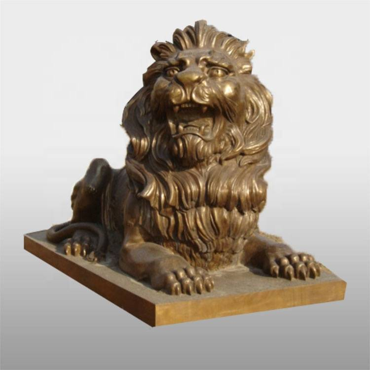 chinese life size bronze statue lion for decoration art