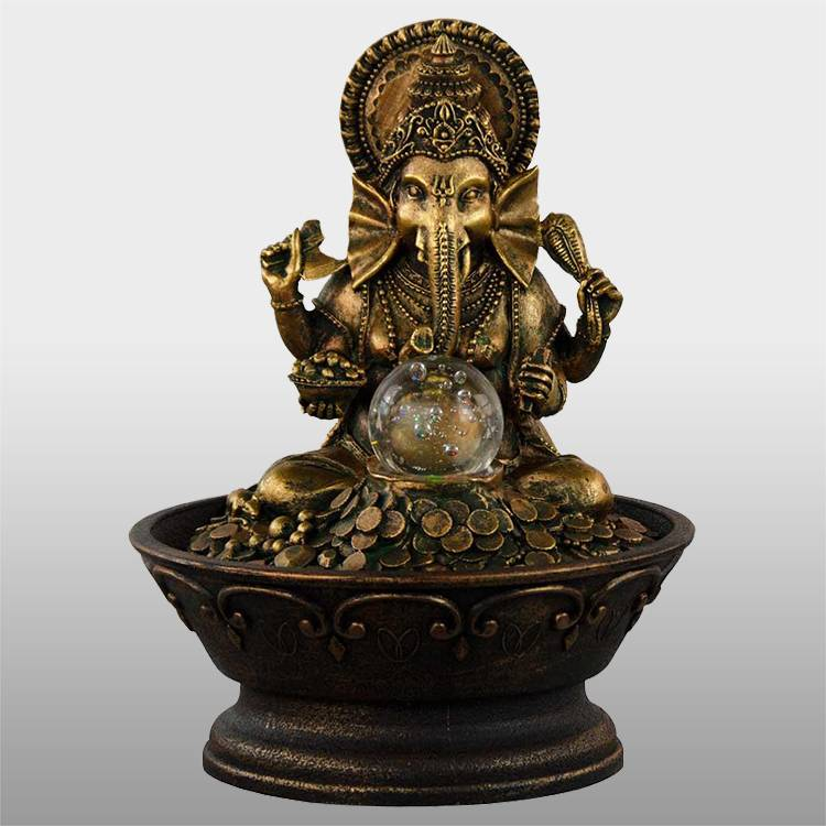 Decorative carved elephant garden fountain