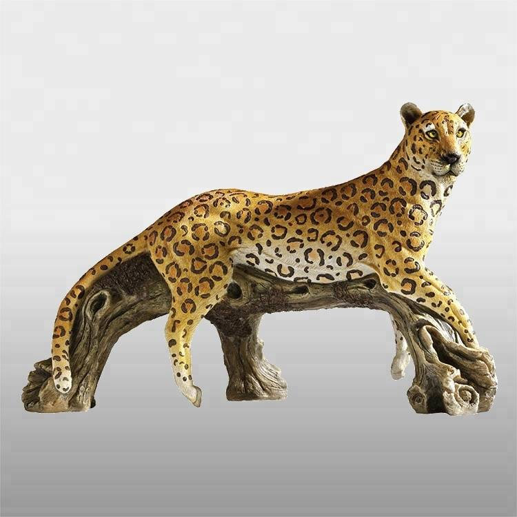 Hot sale outdoor animal statue bronze panther sculpture