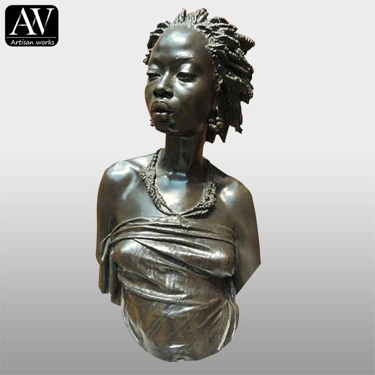 Hand carved bronze brass resin child marble bust