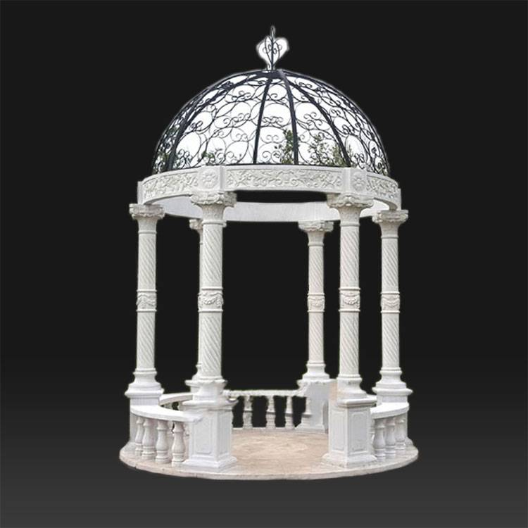 Outdoor decoration garden marble gazebo