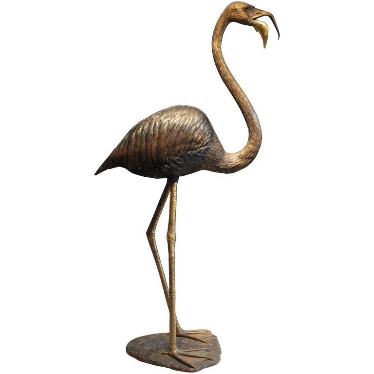 Outdoor large park decoration modern antique bronze crane sculpture for sale