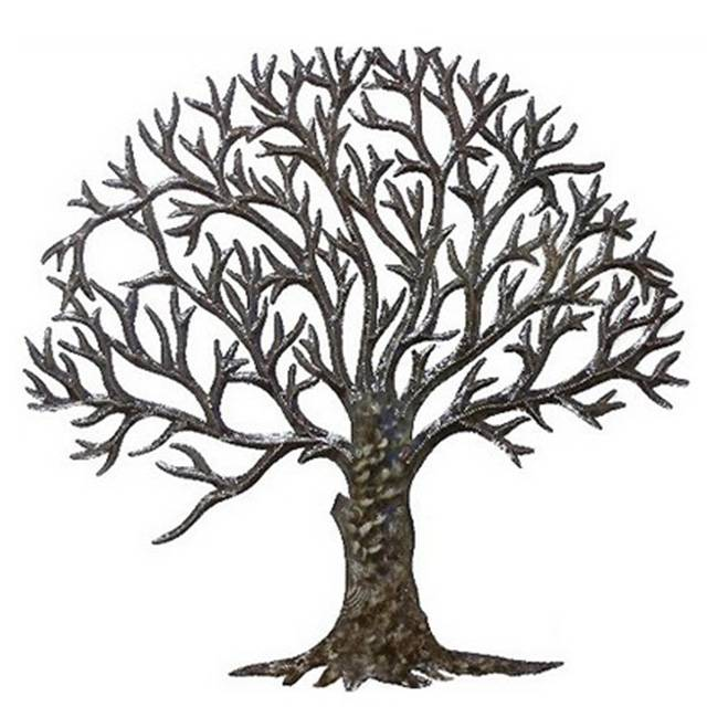 Modern life size metal stainless steel sculpture tree of life sculpture for outdoor decoration Featured Image