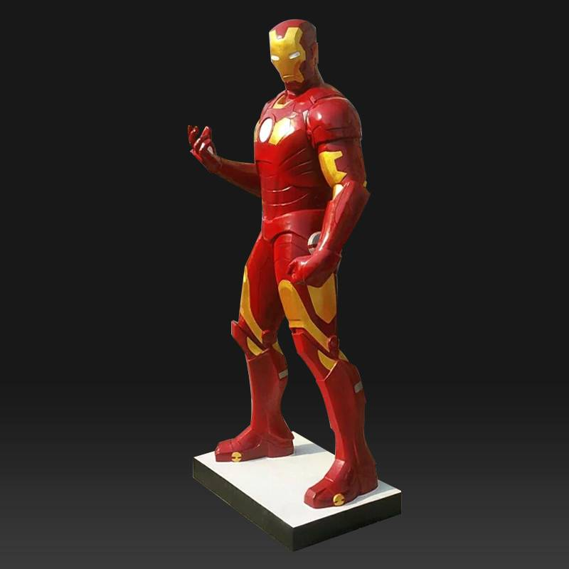 Theme park Fiberglass movie characters iron man cartoon character statue for sale