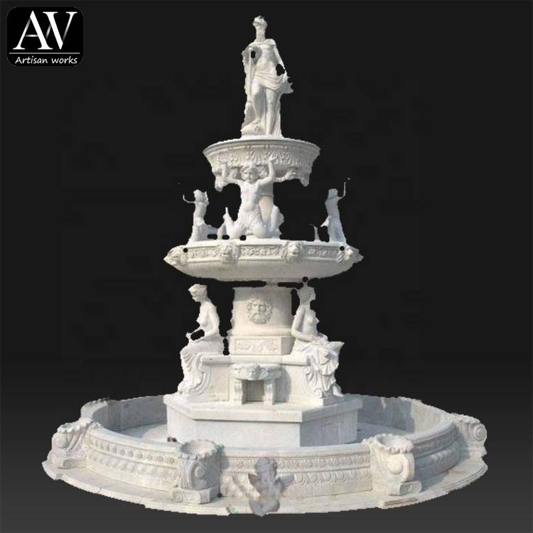 Famous garden outdoor garden white marble fountain