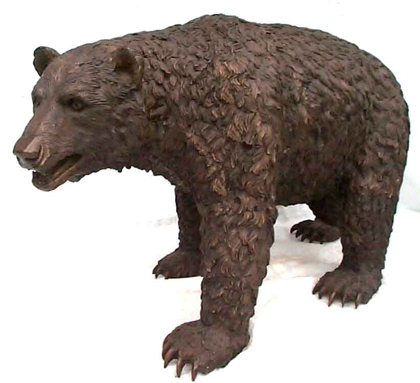 Garden decoration metal casting modern life size bronze bear sculpture