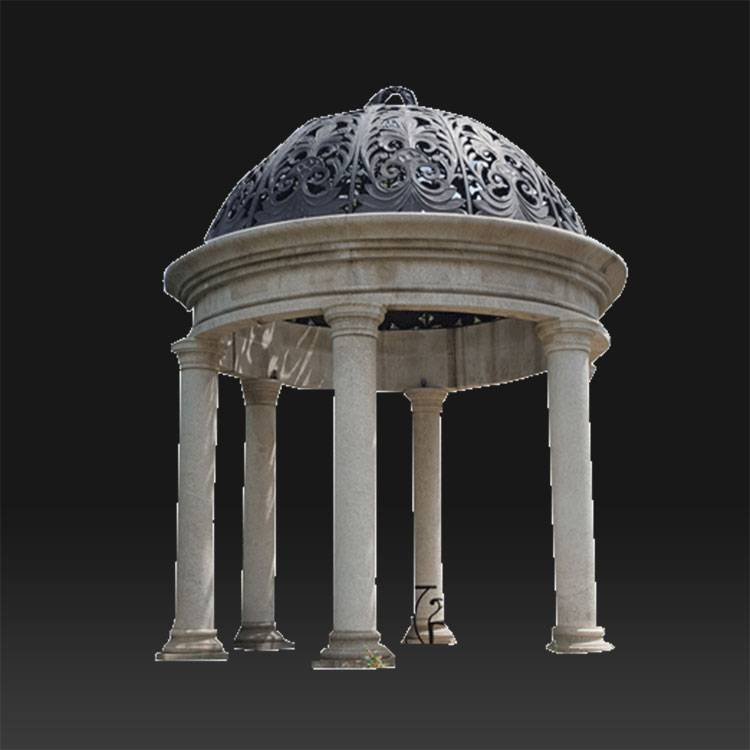 Roman style carved garden modern Decorative column pillar gazebo