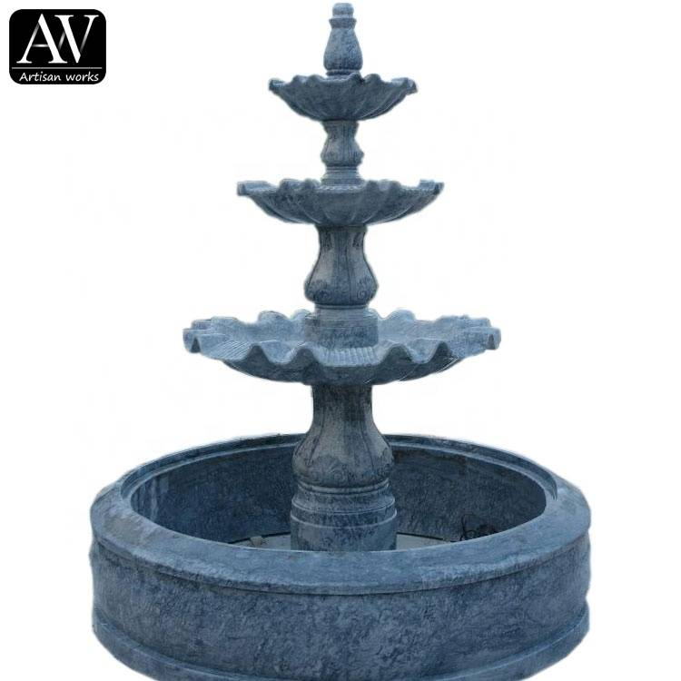 Big size garden marble garden religious water fountain