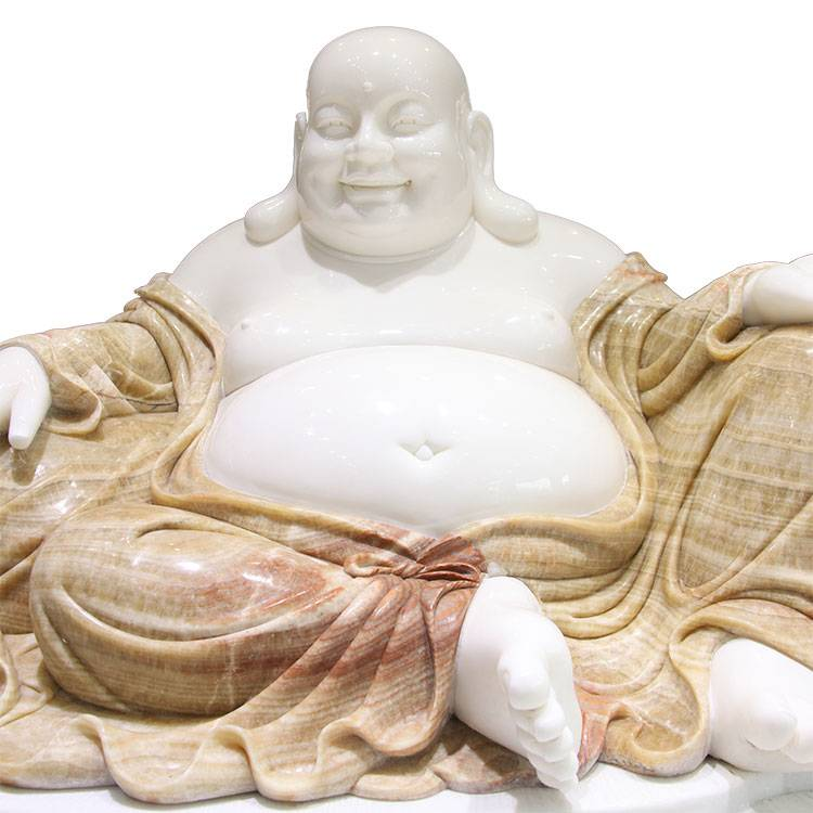 Temple decoration  antique Stone carving sculpture Marble laughing Buddha statue for sale