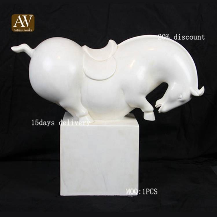 Art foundry indoor home antique small stone horse sculptures for sale
