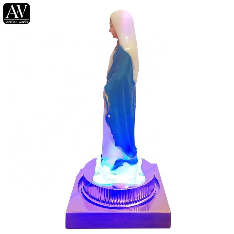 Factory supply decoration home statue with LED lights for sale