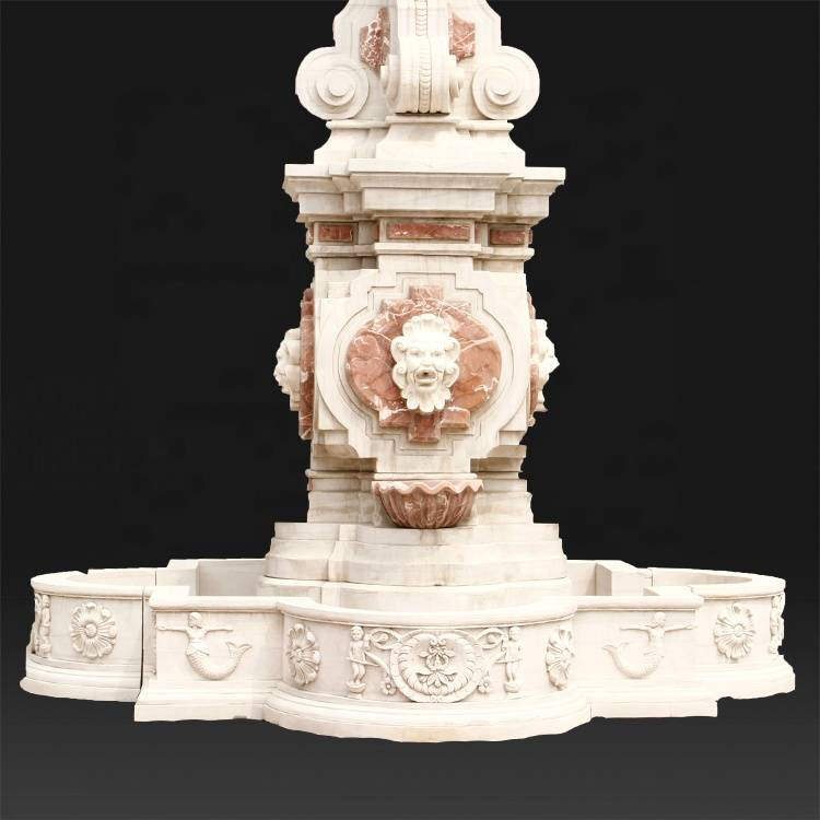 Factory natural stone large garden marble stone water fountain statue