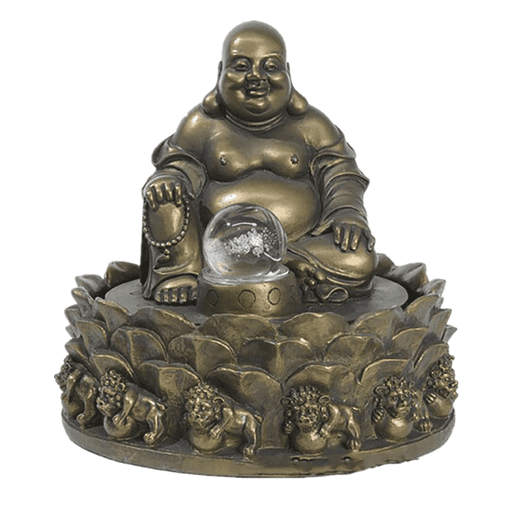 Metal statue indoor decorative bronze buddha water fountain statue for sale