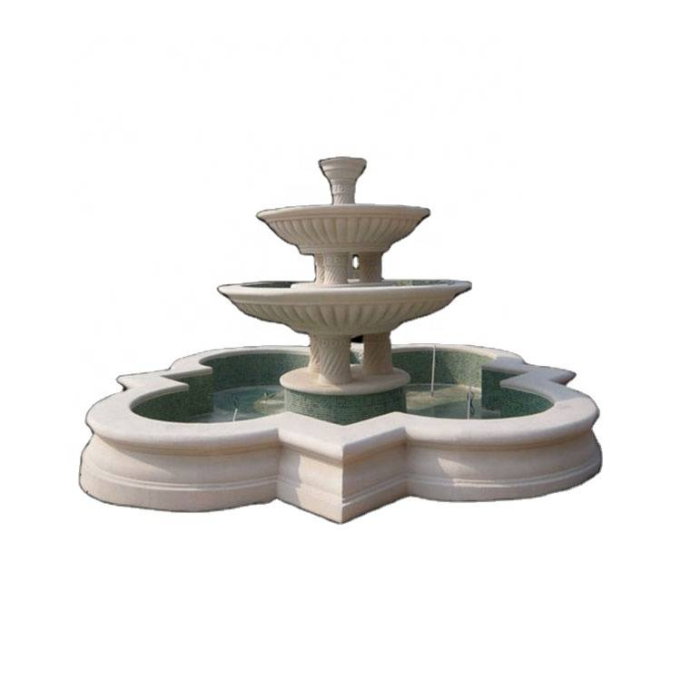 Outdoor decorative Marble fairy and Virgin Mary Water Fountain for Garden