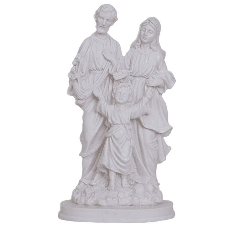 Religious decoration sculpture life size Jesus family white marble statue for sale