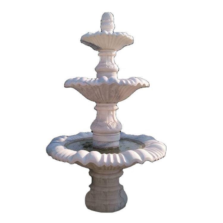 Outdoor christian water fountain marble wall fountains  made in china