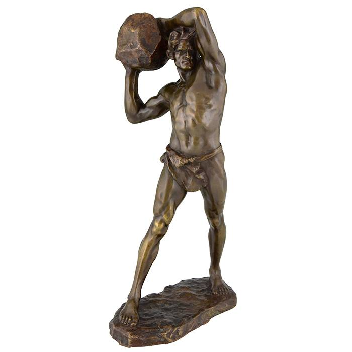 Bronze Figures Statue  Strong Nude Man Sculpture