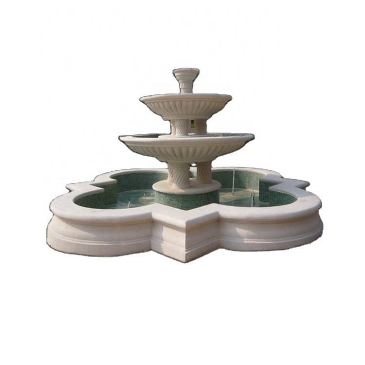 Natural stone french water fountain for garden decor
