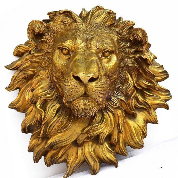 Life size wall decorative  sculpture  bronze lion head fountain
