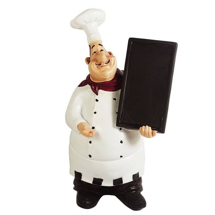 fiberglass doraemon cartoon sculpture life size fat kitchen chef statues