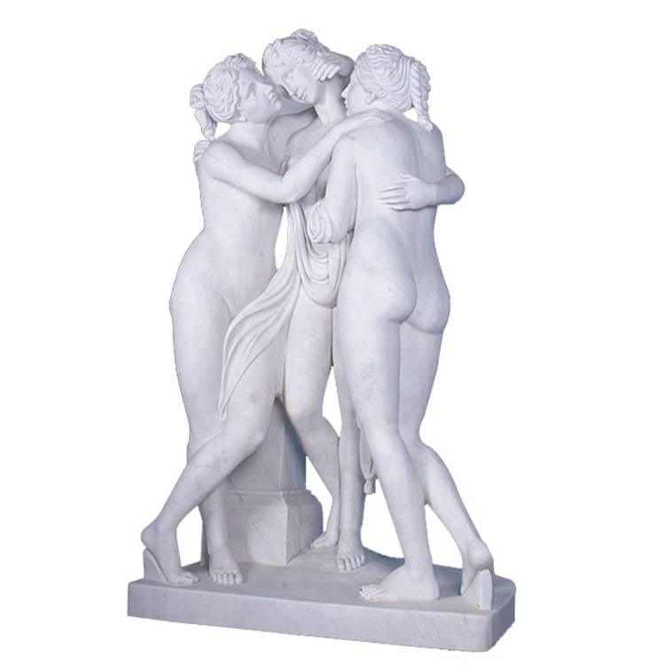 Stone marble life size three nude grace statue for sale Featured Image