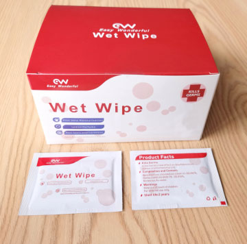 Hot New Products China 50 PCS Sterilize Sanitary Wipes Without Residual Alcohol Hand Sanitizing Akcohol Wipes (W9) Featured Image