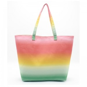 One of Hottest for Large Mesh Beach Bag - Eccochic Design Canvas Ombre Beach Bag – Eccochic