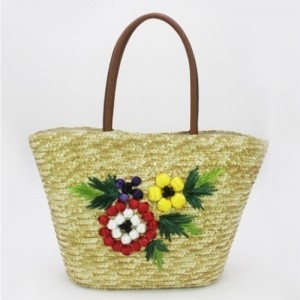 Hot sale Factory Large Tote Bags For School - Eccochic Design Summer Fashion 3d Floral Embroidery Shoulder Tote Bag – Eccochic