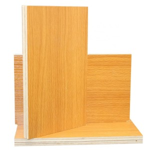Edlon 9mm 12mm 15mm 18mm poplar core plywood with yellow melamine for cabinet and furniture