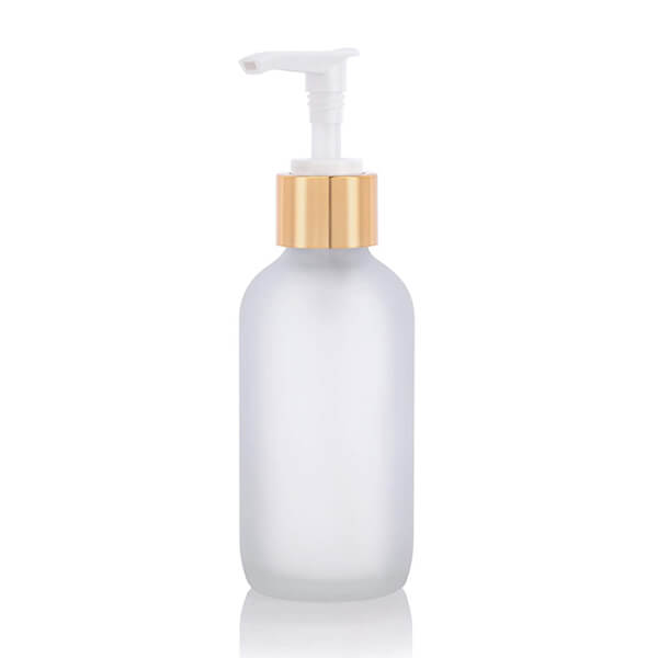 100 Empty Refillable Frosted Glass Pump Bottles Container F r Bath Shower Shampoo Hair-Conditioner Cleanser Makeup Liquids